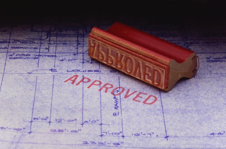 承認された書類の図